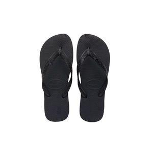 {havaianas} black top thong sandal flip flop